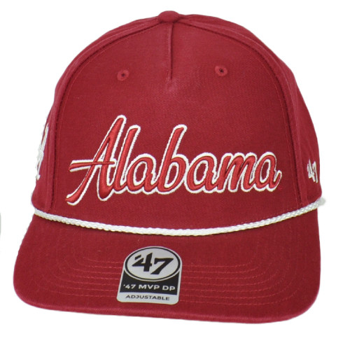 NCAA '47 Brand Alabama Crimson Tide Snapback Red Hat Cap Cord Flat Bill
