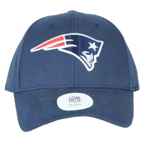 NFL New England Patriots Blue Structured Curved Bill Adjustable Hat Cap Unisex
