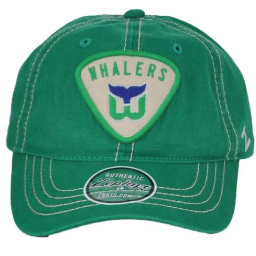 NHL Zephyr Hartford Whalers Green Adjustable Sun Buckle Curved Bill Hat Cap