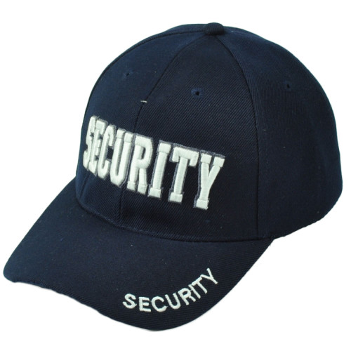 Security Guard Law Officer Bodyguard Constructed Navy Adult White Hat Cap