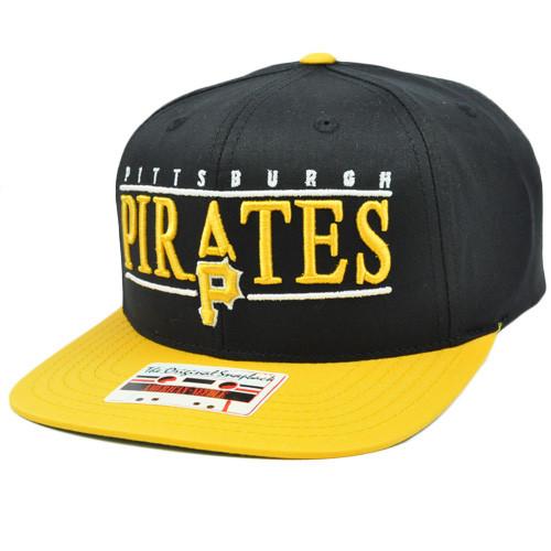 a32954ed175 MLB American Needle Nineties Twill Cap Hat Snapback Flat Bill Pittsburgh  Pirates