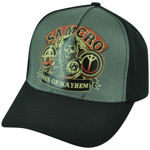 Sons of Anarchy Clip Buckle TV Show Samcro Men of Mayhem Reaper Skulls Hat Cap
