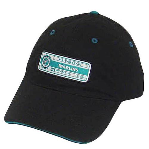 best website a70dc 0a585 MLB FLORIDA MARLINS MIAMI BLACK BLUE BASEBALL HAT CAP