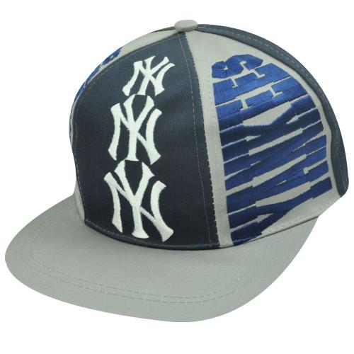 MLB NEW YORK YANKEES OLD SCHOOL FLAT BILL SNAP BACK HAT