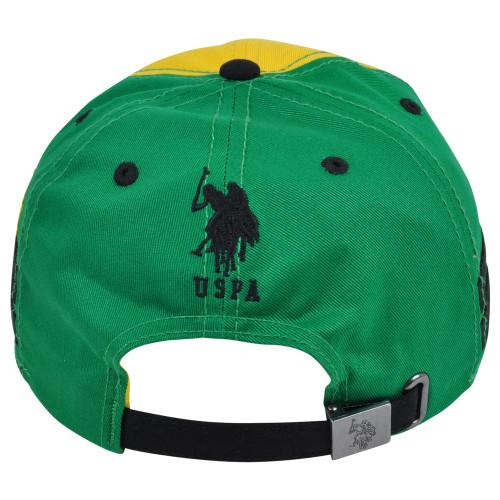 10e756acc ... US Polo Association Assn Country Brazil Flag Clip Buckle Garment Wash Hat  Cap
