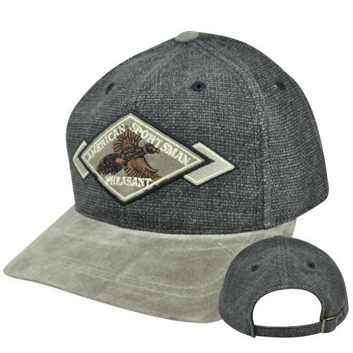 0a58609601963 American Sportsman Pheasant Vintage Old School Licensed Annco Hat Faux  Suede Cap