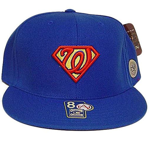 Washington Senators Superman Cooperstown American Needle Fitted 7 3/4 Hat Cap