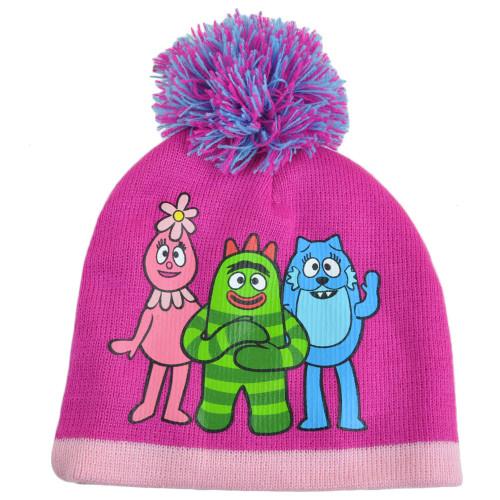 Yo Gabba Gabba Foofa Toodee Brobee Youth Girls Beanie Knit Pom Pom Winter Hat