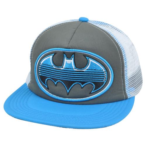 Batman Mesh Snapback Flat Bill Trucker Foam DC Comics Dark Knight Book Hat  Cap 9e8ab249d75b