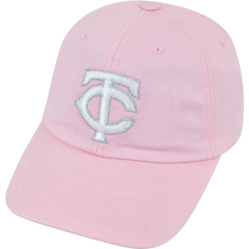 MLB Minnesota Twins Shiver Women Ladies Garment Wash Pink Clip Buckle Hat Cap