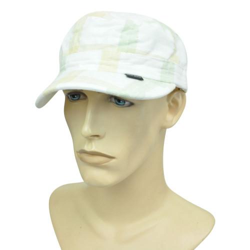 Brand Peter Grimm Garment Wash Plaid Fatigue Military Fitted Medium Hat Cap
