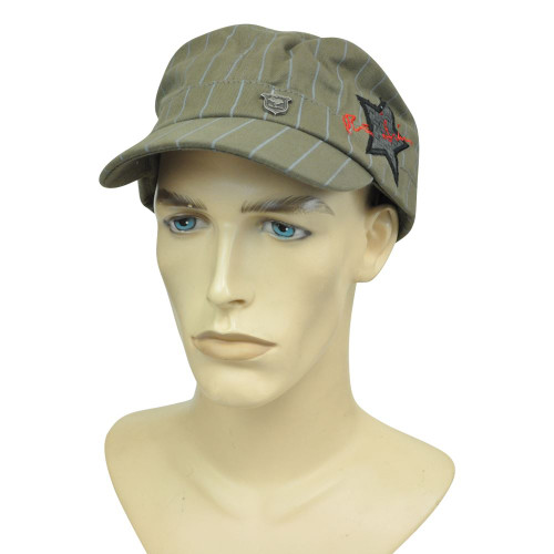 Brand Peter Grimm Fitted Medium Stripped Fatigue Military Star Hat Cap Cadet