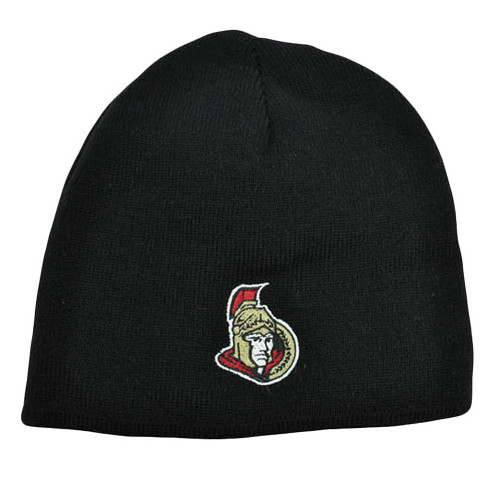 NHL LNH Reversible Zephyr Kids Womens Beanie Knit Nordic Hat Ottawa Senators