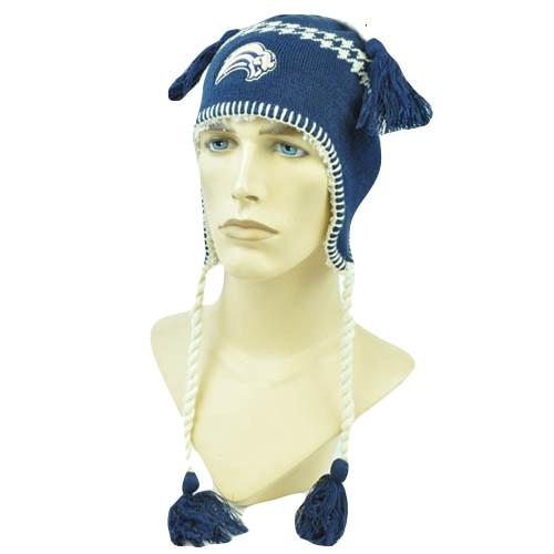 NHL LNH Alpine Tassels Beanie Toque Fleece Lined Knit Zephyr Hat Buffalo Sabres