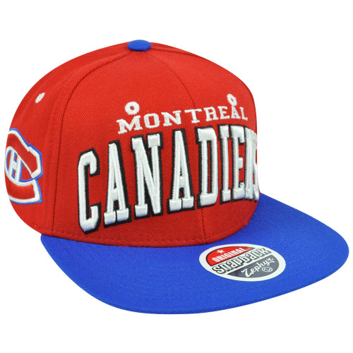 NHL LNH Montreal Canadiens Super Star 32/5 Flat Bill Zephyr Snapback Hat Cap