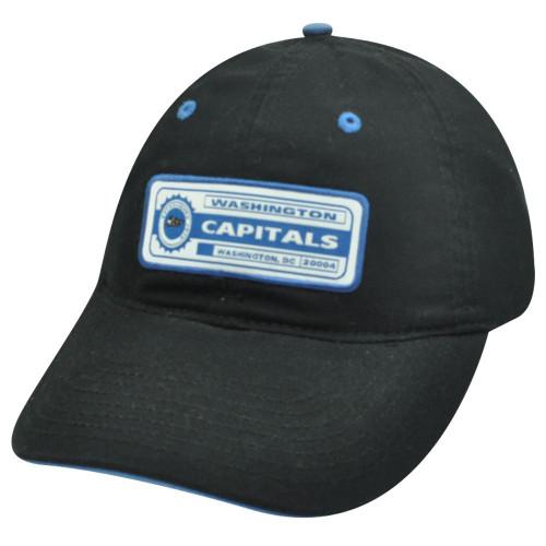 NHL WASHINGTON CAPITALS COTTON VELCRO BLACK HAT CAP NEW