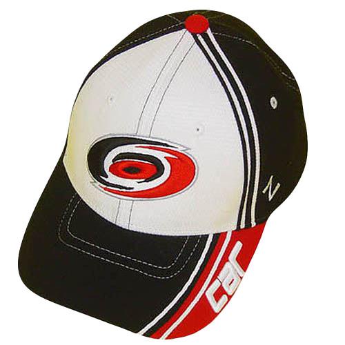 NHL CAROLINA HURRICANES BLK FLEX FIT SM SMALL HAT CAP