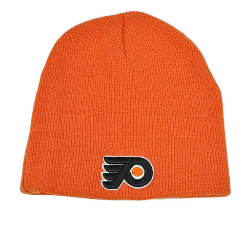 NHL LNH Zephyr Thick Orange Knit Toque Nordic Beanie Cap Hat Philadelphia Flyers