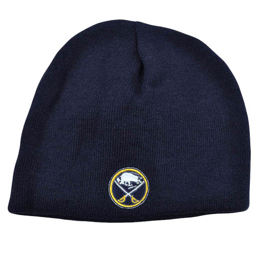 NHL LNH Reversible Zephyr Cuffless Beanie Knit Toque Nordic Hat Buffalo Sabres