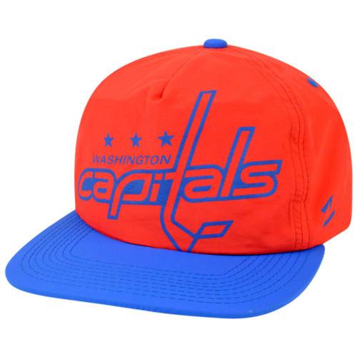 NHL Zephyr Washington Capitals Hotdogger Retro 5 Panel Zip Back Strap Hat Cap