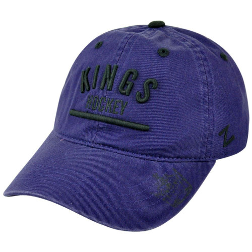 NHL Los Angeles Kings Zephyr Chiller Corduroy Adjustable Garment Wash Hat Cap