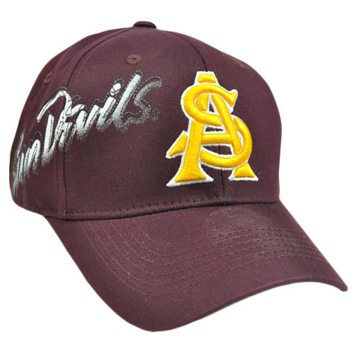 NCAA Arizona Sun Devils Hat Cap Flex Fit Stretch One Fit Top of the World Maroon