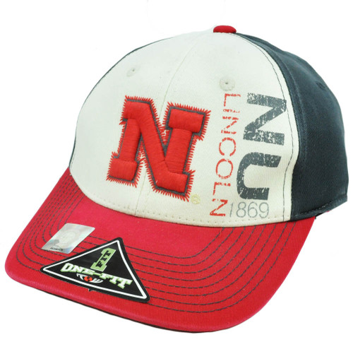 NCAA Nebraska Cornhuskers Blackshirts Hat Cap Top of The World One Size Flex Fit