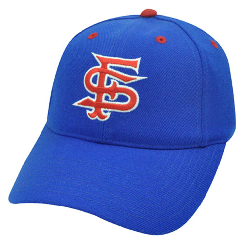 8d421998ec5 NCAA FITTED CAP HAT SIZE 7 1 8 FRESNO BULLDOGS BLUE