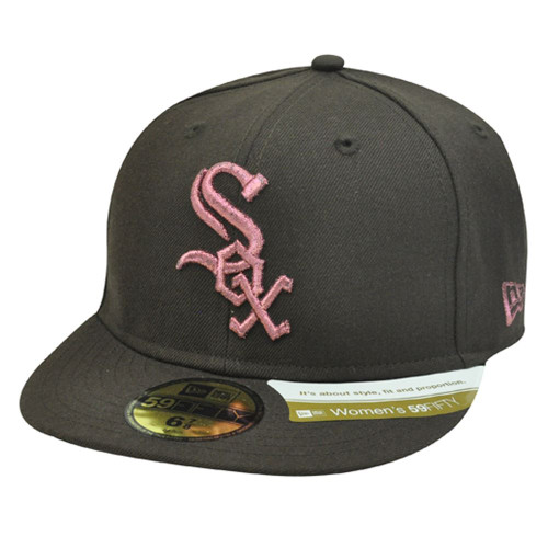 MLB CHICAGO WHITE SOX BROWN HAT CAP FITTED 7 1/8 NEW