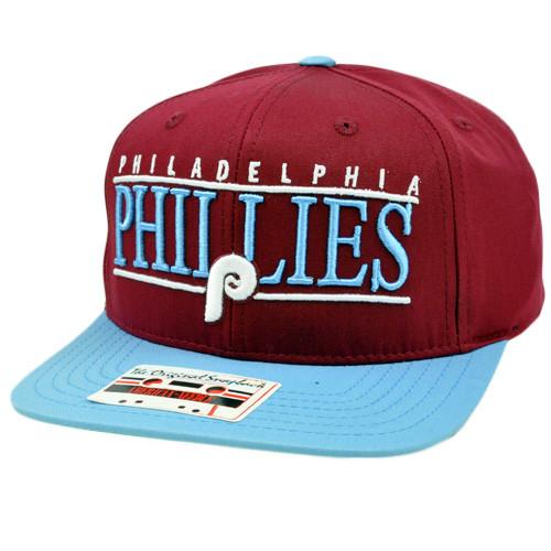 21c035d35f3 MLB American Needle Nineties Twill Cap Flat Bill Snapback Philadelphia  Phillies