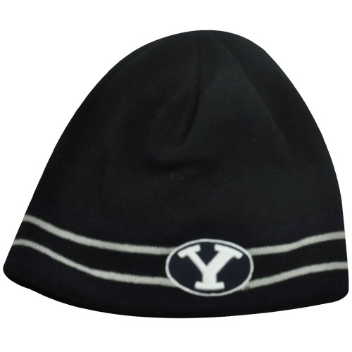 NCAA BEANIE KNIT HAT TOQUE BRIGHAM YOUNG COUGARS FLEECE