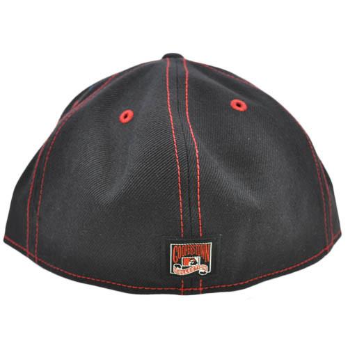 960478b89 ... MLB Cincinnati Reds American Needle Black Red Fitted 7 3/8 Flat Bill  Hat Cap