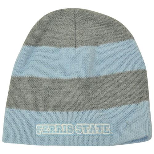 NCAA American Needle Women Ladies Ferris State Bulldogs Cuffless Knit Hat Blue