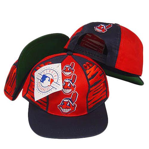 MLB CLEVELAND INDIANS SNAP BACK VINTAGE FLAT BILL HAT