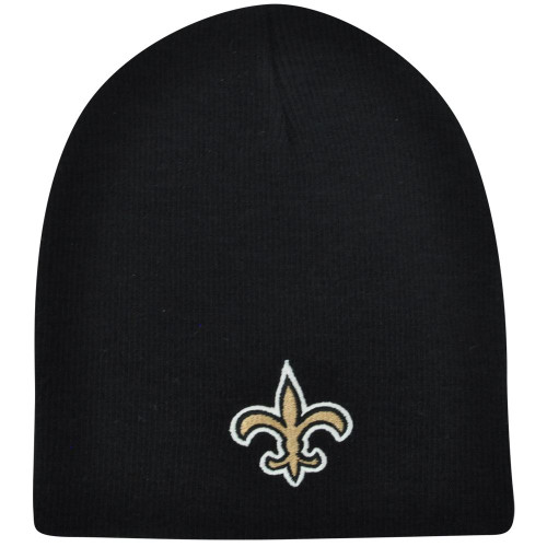 NFL New Orleans Saints Solid Cuffless Knit Beanie Toque Skully Winter Hat Skull