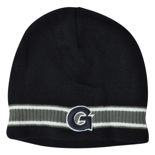 d232b53d459a8 NCAA Georgetown Hoyas Bulldog Striped Beanie Knit Cuffless Skully Winter Hat