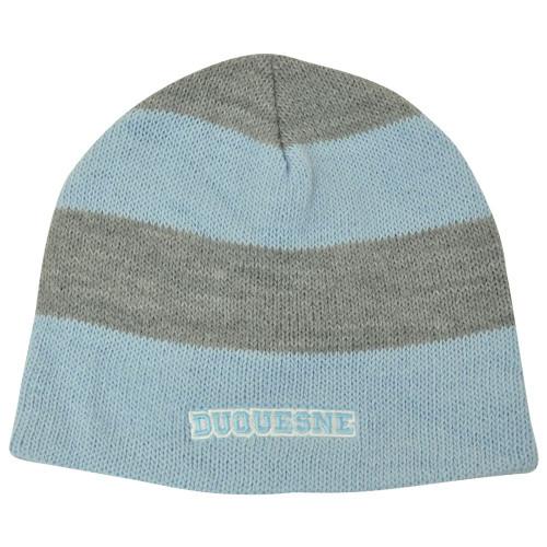 NCAA American Needle Women Ladies Duquesne Dukes Stripe Cuffless Knit Beanie Hat