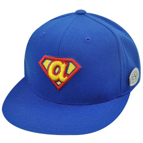 MLB ATLANTA BRAVES FITTED 8 FLAT BILL SUPERMAN HAT CAP