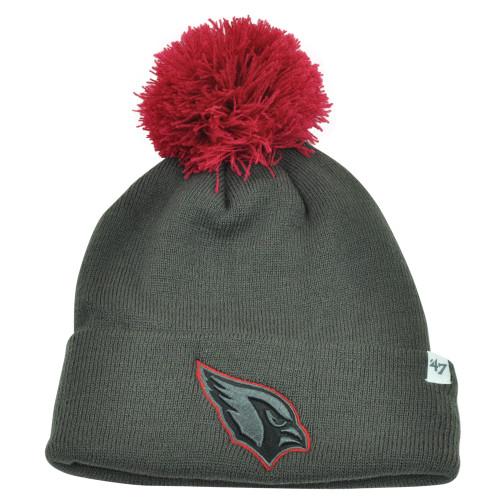 NFL '47 Brand Arizona Cardinals Justus Charcoal Pom Cuffed Knit Beanie Skully