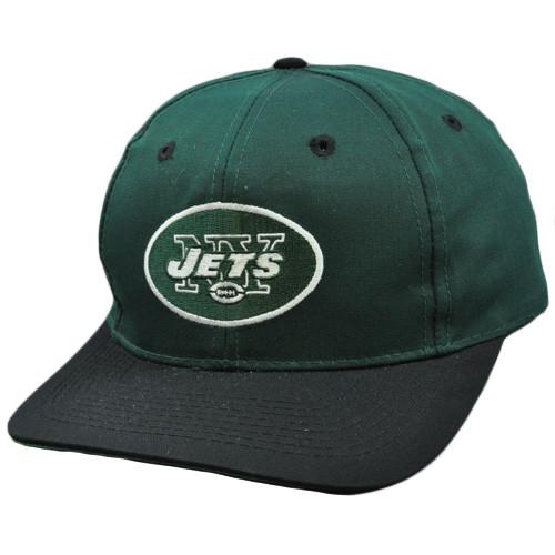 NFL New York Jets Green Black Vintage Retro Deadstock Snapback Twins Hat Cap