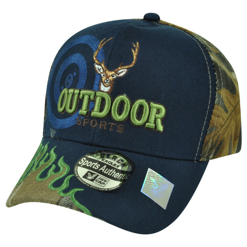 b0e2324e2ff76 Outdoor Sports Deer Hunting Hunt Camping Camp Flame Camouflage Camo Hat Cap  Navy