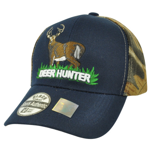 Deer Hunter Hunting Hunt Camouflage Camo 2Tone Velcro Outdoors Camping Hat Cap