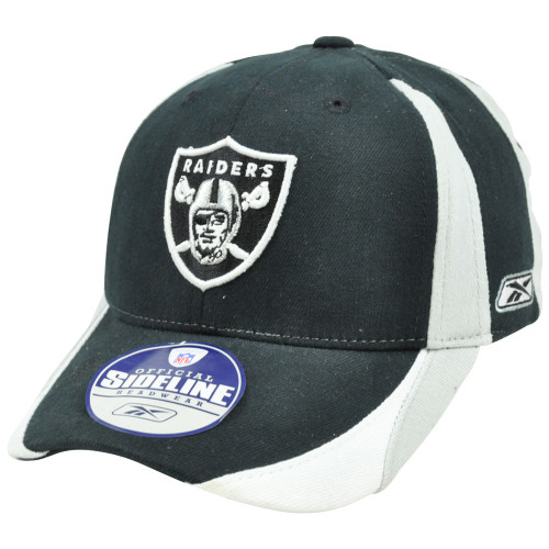NFL Sideline Equipment Oakland Raiders Flex Fit Reebok Rbk Kids Child Hat Cap