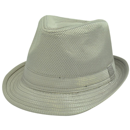 95bcd4c8f4dcd Champagne Taupe Satin Checker Large XLarge XL Fedora Trilby Stetson Homburg  Hat
