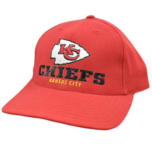 ce5a2fc6 NFL Kansas City Chiefs Red Black Vintage Old School Flat Bill Snapback Hat  Cap