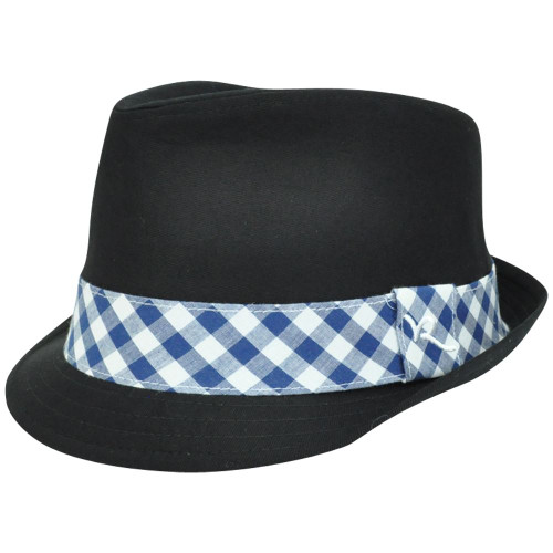 12f6ed91212 Rocawear Plaid Band Diamond Top Stetson Gangster Trilby Fedora One Size Hat