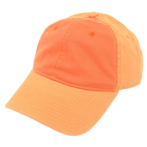 American Needle Blank Two Tone Orange Women Ladies Garment Wash Buckle Hat Cap