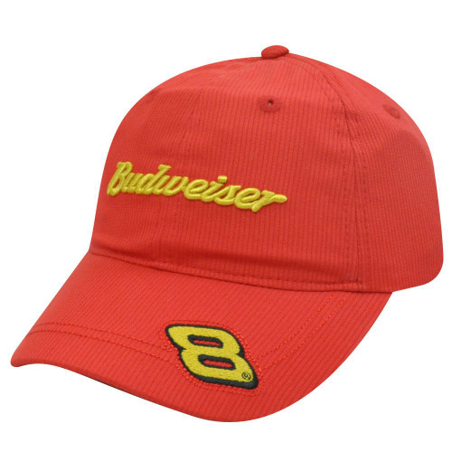 e9ba2ab55ff72 HAT CAP BUDWEISER DALE EARNHARDT JR 8 NASCAR BEER RACE RACING CHASE INDIE  RED