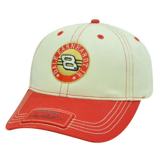 1780b2fc95f84 HAT CAP BUDWEISER DALE EARNHARDT JR 8 NASCAR RACE RACING WINNERS CICRCLE RED  TAN