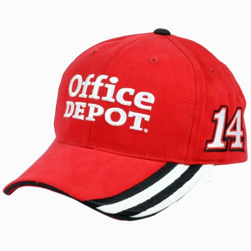 3e35bb11e65fe Nascar Tony Stewart  14 Office Depot Constructed Adjustable Velcro Race Hat  Cap